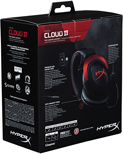 HyperX Cloud II Gaming Headset for PC & PS4 & Xbox One, Nintendo Switch – Red (KHX-HSCP-RD)