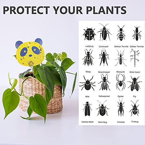 12 PCS Fruit Fly Trap Yellow Sticky Fungus Gnat Traps for House Plants Gnat Killer for Indoor / Outdoor, Glue Trappers Bug Catcher for Gnats, Whitefly, Mosquito Bits, Flying Insects - Protect Plants