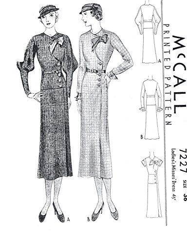 1933 Dress with Front Button Closure ()