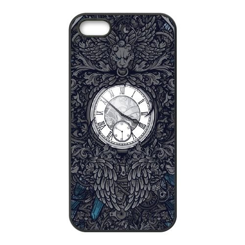 Montre vintage avec mécanisme MT11UT8 coque iPhone 5 5s téléphone cellulaire cas coque I8YQ3T4TP