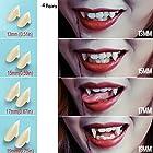 UVEEFUN Vampire Teeth Fangs Dentures - 4 Pair - Cosplay Props Halloween Costume