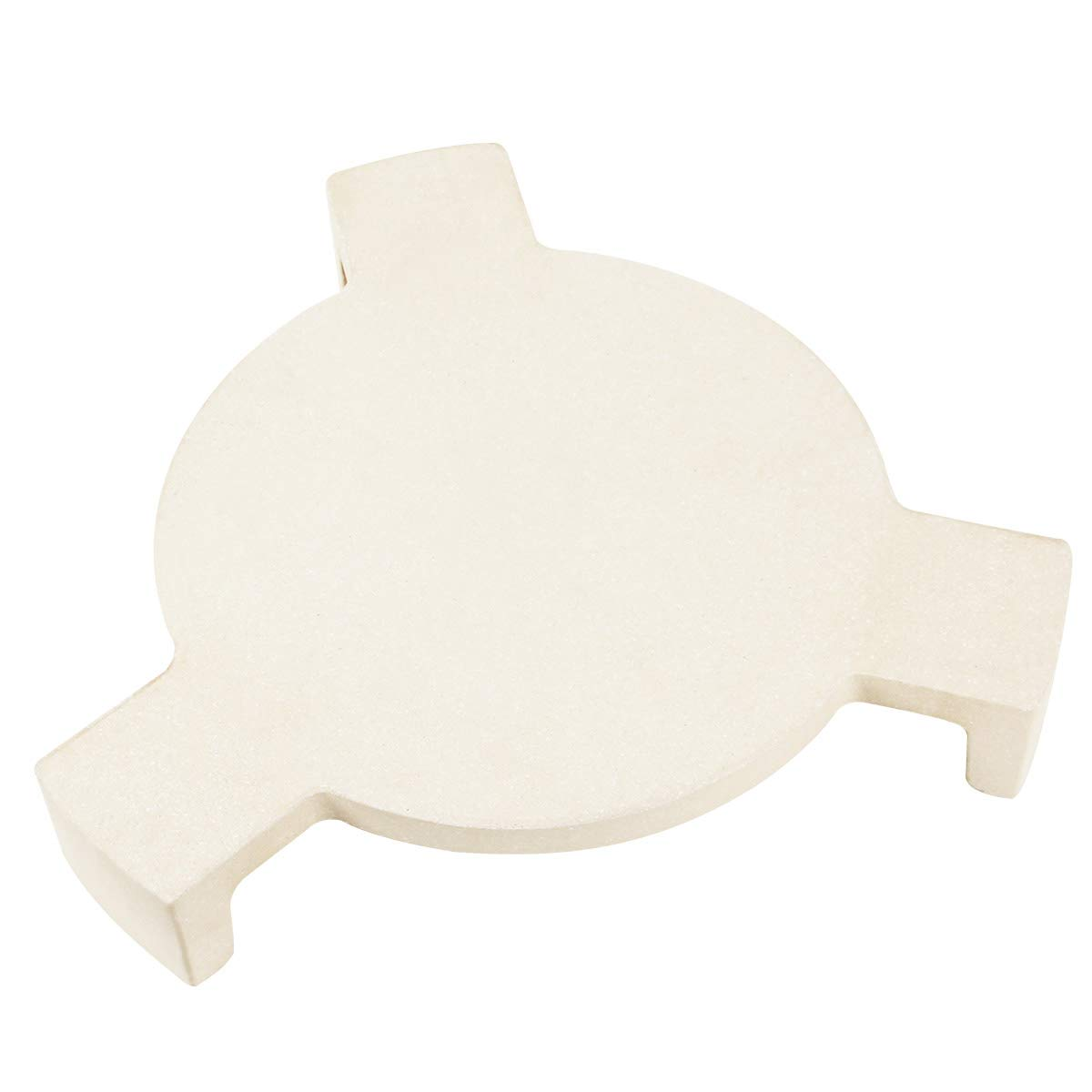 KAMaster Plate Setter Heat Deflector for Medium Big Green Egg,Ceramic Pizza Stone Smoking Stone Big Green Egg ConvEGGtor Accessories Heat Plate Replacement for Kamado Grill by KAMaster