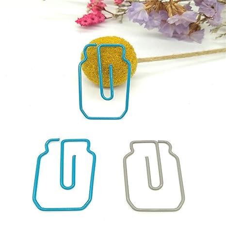 Burofin Forma de la botella Clip de papel Bolsa de plástico de metal ...