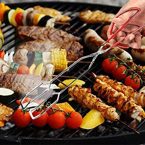 Kstyhome Pince à Ciseaux Barbecue Barbecue Grill Pince À Pâtisserie Clip De Cuisson Cuisson Pince De Cuisson Kicthen Alimentaire Pince À Ciseaux Poignées en Acier Inoxydable