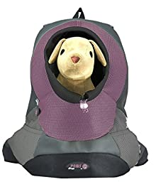 Crazy Paws Pet Backpack Large Lilac