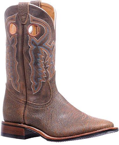 Bottes américaines - Bottes Cowboy BO-5194-E (pied normal) - Homme - Cuir - marron