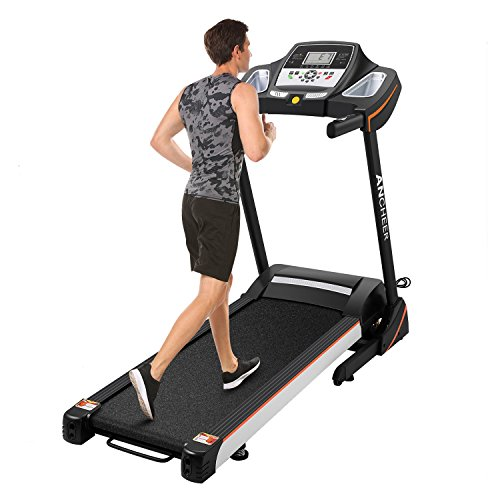 3.0HP Folding Electric Treadmill Running Machine With Heart Rate Sensor Z668 (black) For Sale