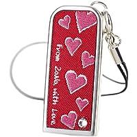 ZaNa Design Fiori Love 16GB USB 2.0 Flash Drive - Floral Pink (ZF16LOVE)