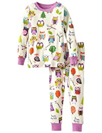 Hatley Little Girls'  Pajama Set-Party Owls