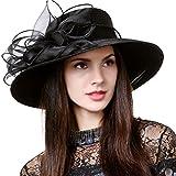 Lightweight Kentucky Derby Church Dress Wedding Hat #S052 (S062-Black)