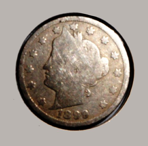 Extremely Rare Coin 1899 United States of America (USA) 5 Cents also known as Liberty Head Nickel more than 100 Year Old, Worn with Year Visible (World Coins Rare)