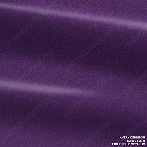 Avery SW900-566-O Satin PURPLE METALLIC 5ft x 3ft (15 Sq/ft) Supreme Vinyl Car Wrap Film (566 Three Foot)