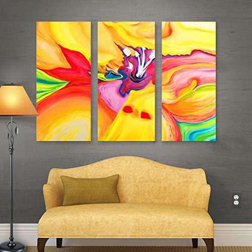 ArtWall Susi Franco 'Secret Life of Lily' 3-Piece Gallery Wrapped Canvas Artwork, 32 by 72-Inch by Art Wall