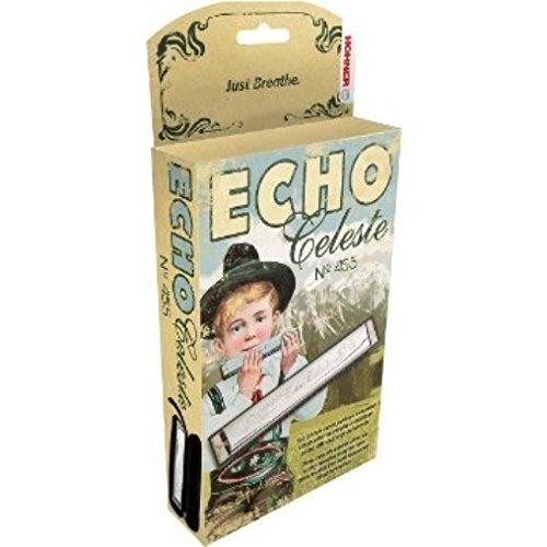 (Hohner 455 Echo Celeste Tremolo Tuned Harmonica Key Bb, Includes Case, 455BX-BF)