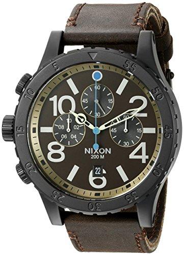 Nixon-Mens-A3632209-48-20-Chrono-Leather-Analog-Display-Japanese-Quartz-Brown-Watch