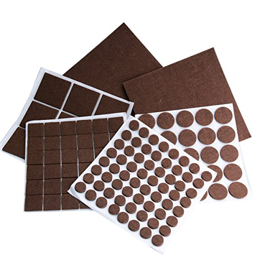 136 Pieces Furniture Protector Felts Pads with Durable Self-Stick Adhesive