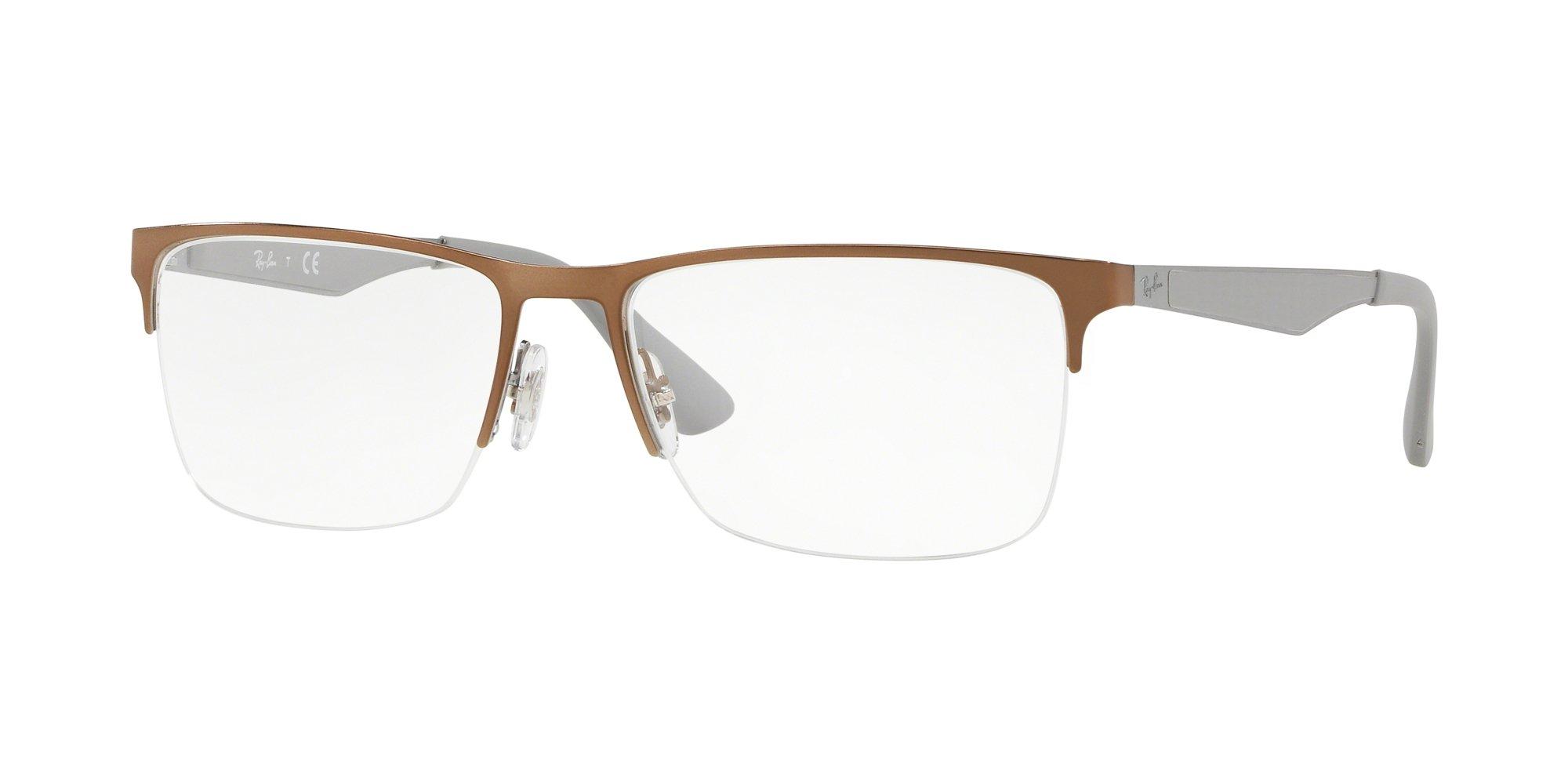 Ray-Ban RX6335 Eyeglasses Light Brown 56mm by Ray-Ban