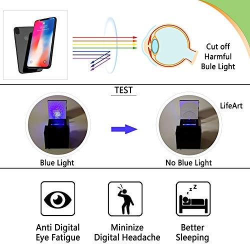 LifeArt Blue Light Blocking Glasses Women | Computer Reading Glasses Men | Square Frame Eyewear for Anti Eyestrain (Tortoise, No Magnification)