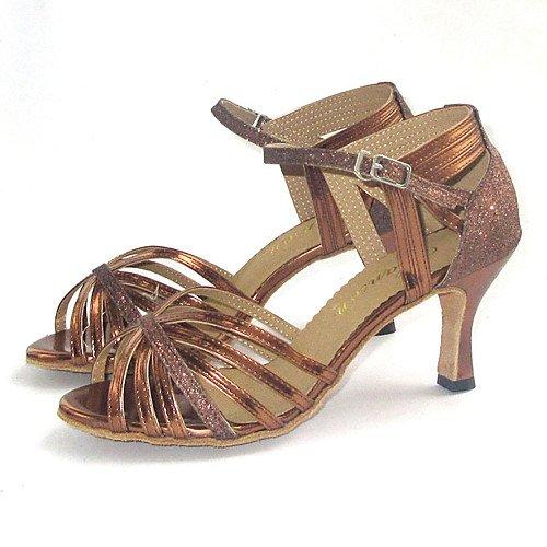 t Bronze Danse Femmes T Sur q De Pour Chaussures Mesure Xzq05Hw