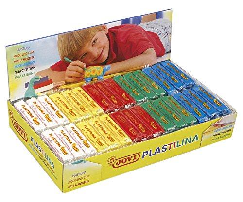 JOVI –  Scatola di plastilina, 30 pastiglie 50 g Colori Base, 6 x 5 Colori, 70B 30pastiglie 50g Colori Base 6x 5Colori