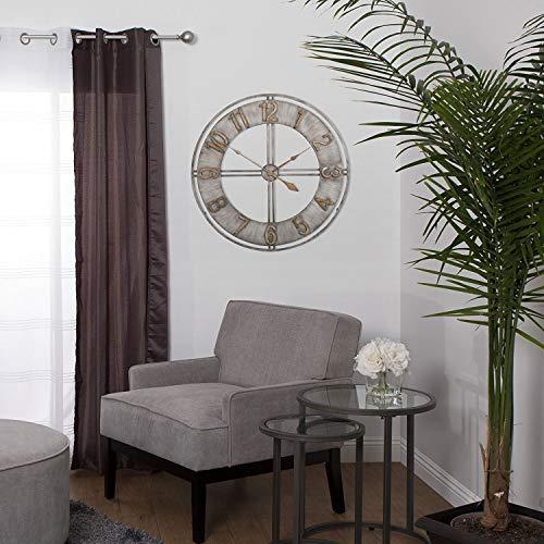 Studio Designs Home Industrial Loft 30 Inches Metal Wall Clock, Steel/Bronze ()