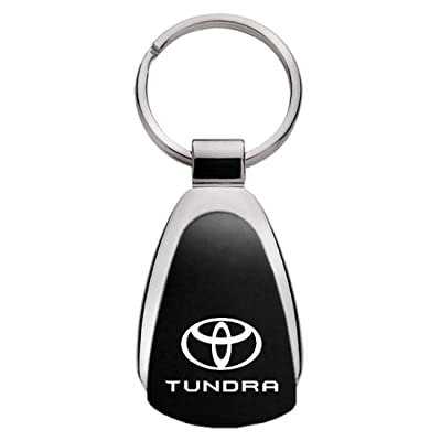 Toyota Tundra Black Tear Drop Key Chain: Automotive