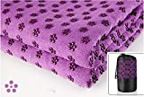"Yoga Mat Towel-Microfiber Hot Yoga Towel-Non Slip,Sweat Absorbent, Super Soft,(24"" x 72"") (Purple)"