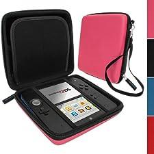 iGadgitz Pink EVA Hard Case Cover for Nintendo 2DS
