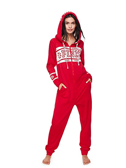 0874b383fc2 Amazon.com  Victoria s Secret Long Jane Onesie Pajama   VS Pink Bling Giant  Dog