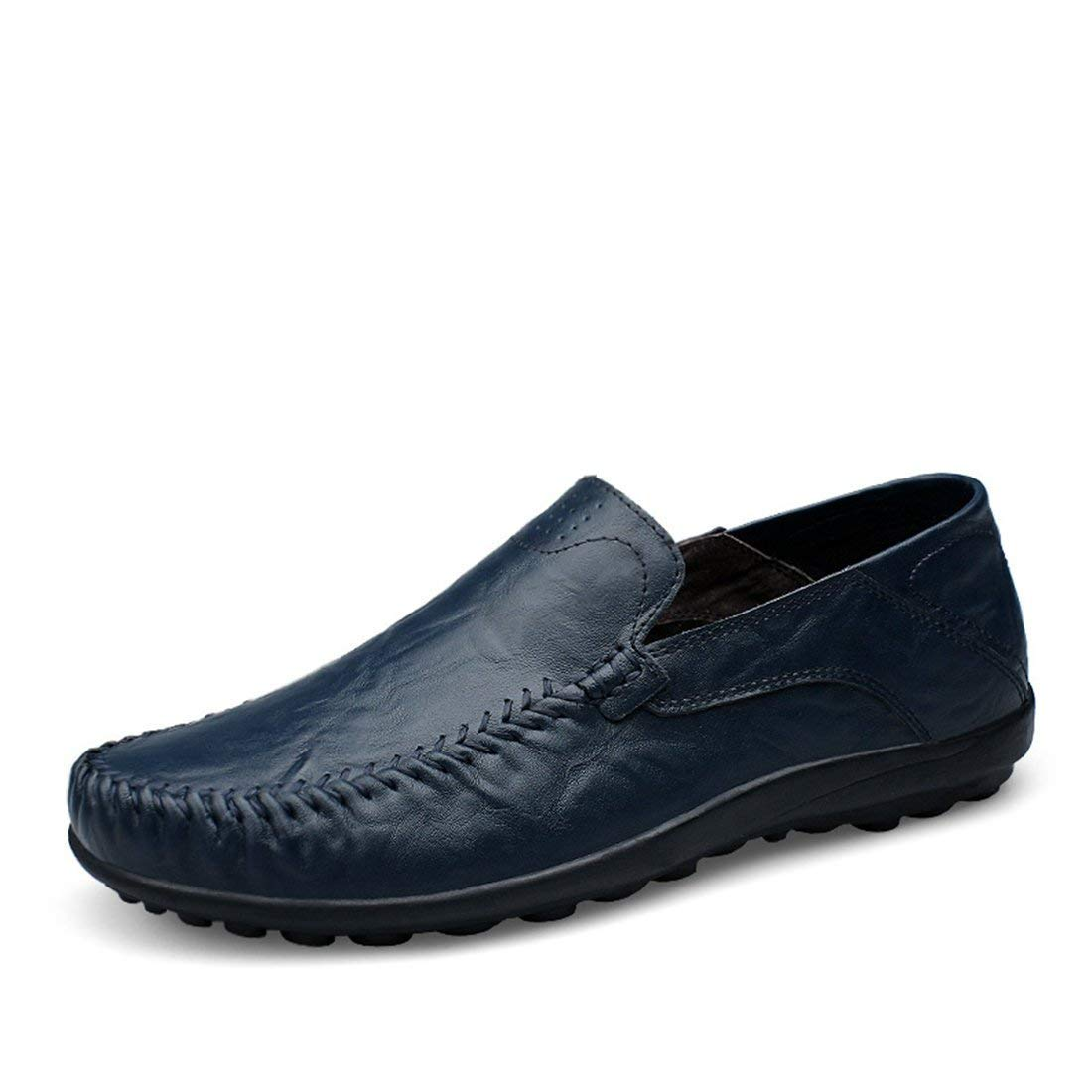 Qiusa Herren Slim-Ons Dunkelblaue Casual Penny Loafers UK 7.5 (Farbe   -, Größe   -)