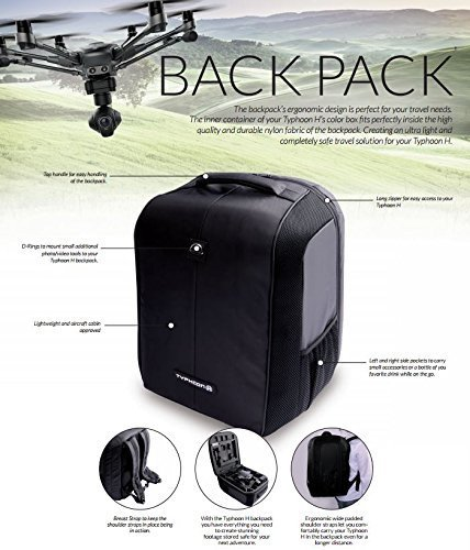 Yuneec Typhoon Backpack Expandable Black