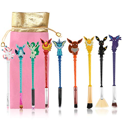 Cute Fairy Makeup Brush Set, 9PCS Wizard Wand Makeup Brushes Gifts for Women