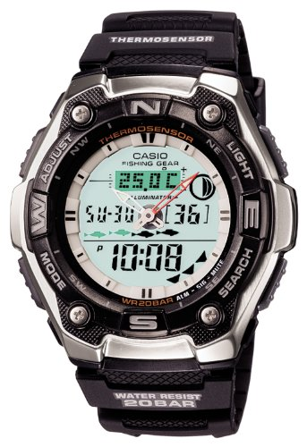 Casio  Casio Sports Gear Sports Gear Moon Data Mens Watch Aqw 101J 1Ajf
