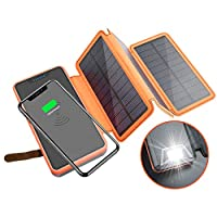 20000mAh Solar Power Bank with Wireless ...