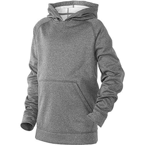 Demarini Youth Short - DeMarini Youth Fleece Hoodie, Grey, Medium