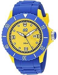 40Nine Mens Quartz Plastic and Silicone Casual Watch, Color:Blue (Model: 40NINE01/PERI10)