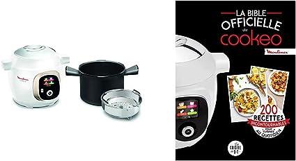 Moulinex Multicuiseur Intelligent Haute Pression 6 L 150 Recettes 6 Modes de Cuisson et La bible officielle du cookeo 200 recettes incontournables pour cuisiner au quotidien