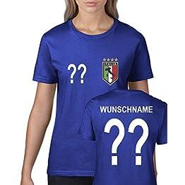 Maillot de football pour femme -Personnalisable-Italie - Coupe du Monde ou Championnat d'Europe -Col rond - Bleu roiPlusieurs tailles disponibles