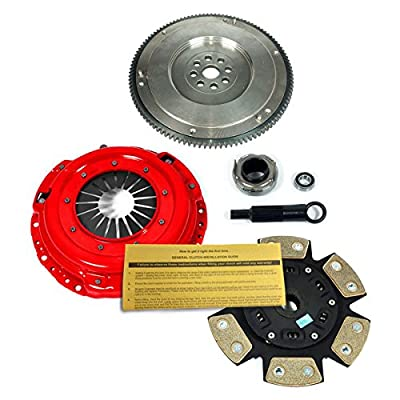 EFT 6-PUCK CLUTCH KIT+HD FLYWHEEL WORKS WITH 1990-1991 INTEGRA RS LS GS 1.8L B18 CABLE: Automotive