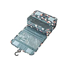 Cisixin Portable Hanging Personal Organizer Bag toiletry Bag Perfect for Travel Outdoor (Light Blue Flower)