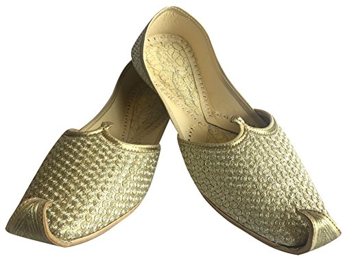 For Mojari N Etnico Dorato Kolhapuri Jaipuri Scarpe Rajasthan Khussa Step Jutti Style Men Punjabi zTRdwEqB