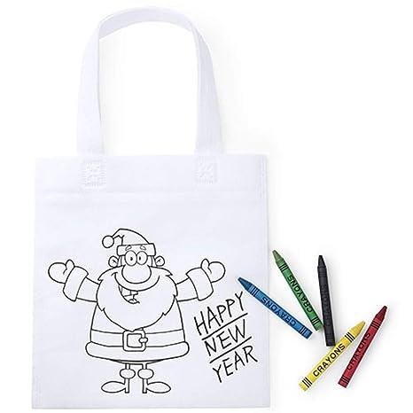 Lote de 30 Bolsas para Colorear de Navidad - Ideal para ...