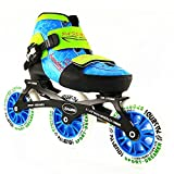 Adjustable speed skates For Kids 4 Size Adjustable Single Wash shoes inline roller skates 3X110mm 3 wheels