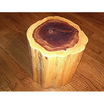 "Red Cedar Tree Stump Table Stool Photo Prop Plant Stand - 8-10 diameter - 4""-22"" Tall"