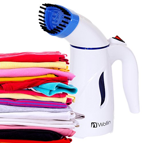 Clothes Steamer - Handheld And Portable Fabric And Garment Steamer - Perfect For Home And Travel Use, Curtains, Couches & Carpets - With Free Brush Nozzle - Fast, Powerful Heat Up- Lightweight (Battery Garment Steamer compare prices)