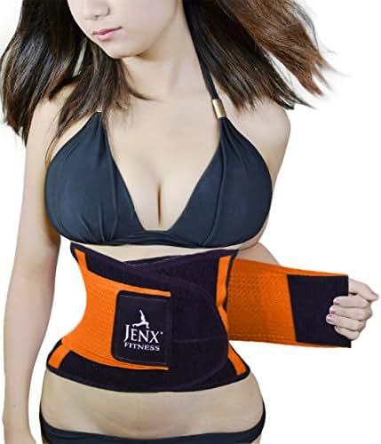 Jenx Fitness Unisex Waist Trimmer, Orange,  Small