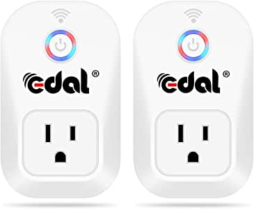 Infinal Wi-Fi Smart Plug,Mini Smart Plug Compatible with Alexa Support Timing Function,Voice Contral via APP from Anywhere Anytime,No Hub Required,Energy Saving,Smart Home Life (2 Pack)