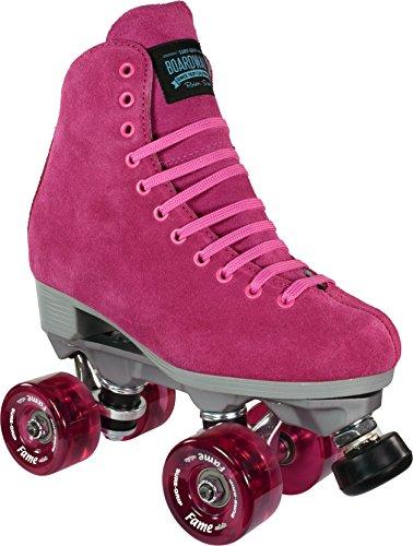(Sure-Grip Boardwalk Fame Roller Skate Package - Pink sz Mens 6 / Ladies 7)