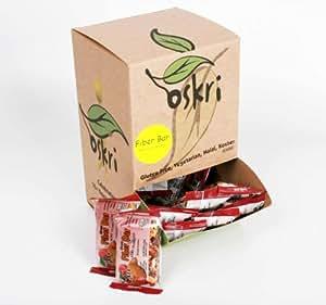 Oskri Fiber Bar, Almonds and Cranberries, 0.88-Ounce Bars (Pack of 40)
