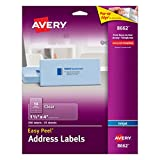 """Avery Clear Easy Peel Address Labels for Inkjet Printers 1-1/3"""" x 4"""", Pack of 350 (8662)"""